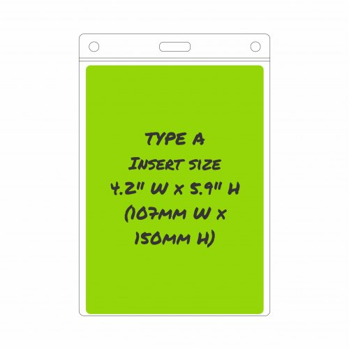 Type A Card Holder - Insert size: 107mm/4.2