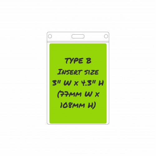 Type B Card Holder - Insert size: 77mm/3