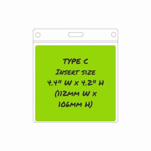 Type C Card Holder - Insert size: 112mm/4.4