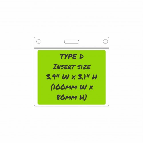 Type D Card Holder - Insert size: 100mm/3.9