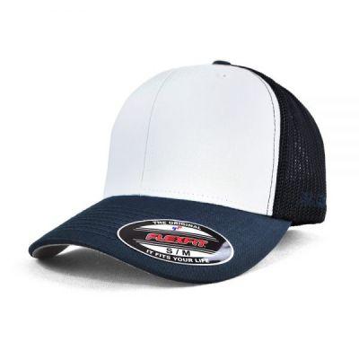 Flexfit Trucker Mesh Cap - White Front