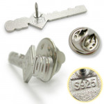 product image 2   Eintracht 100 Sterling Silver Pins