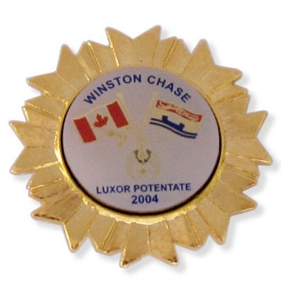 Luxor Potentate Decorations Awarded Styled Lapel Pins