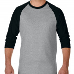 product image 2 | Gildan 180g Heavy Cotton 3/4 Sleeve Raglan