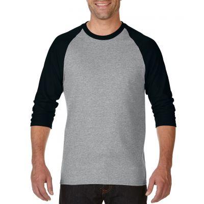 Gildan 180g Heavy Cotton 3/4 Sleeve Raglan Image 2
