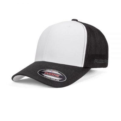 Flexfit Trucker Mesh Cap - White Front Image 2