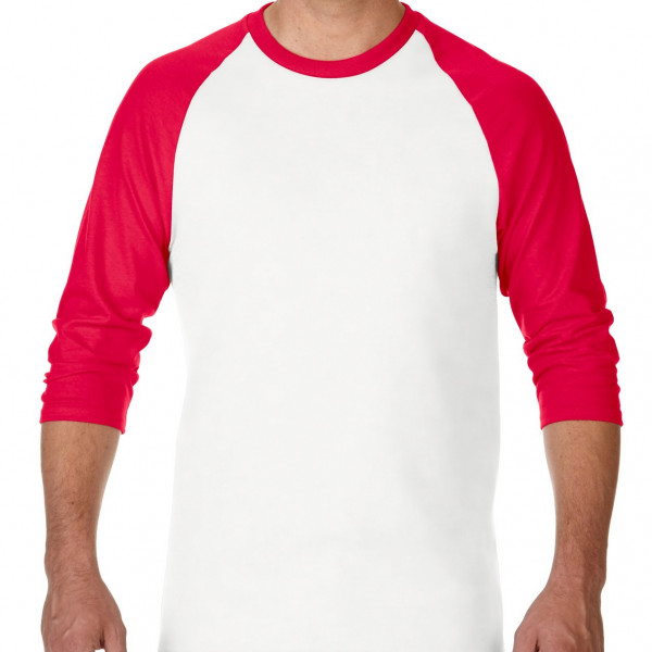 Gildan 180g Heavy Cotton 3/4 Sleeve Raglan