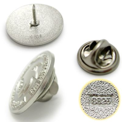 La Fondation Louis J Robihaud Sterling Silver Pins Image 2