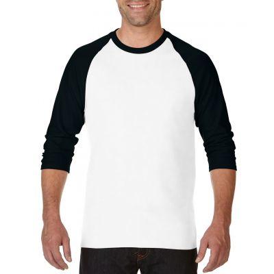 Gildan 180g Heavy Cotton 3/4 Sleeve Raglan