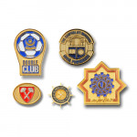 product image 3   Double Club Lapel Pins