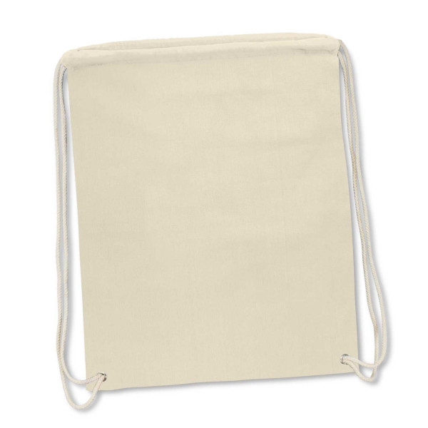 Cotton Drawstring Backpack - 500 x 415mm