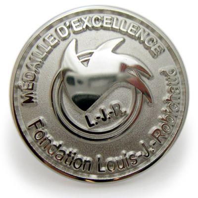 La Fondation Louis J Robihaud Sterling Silver Pins