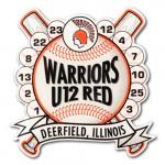Warriors U12 Red Lapel Pins