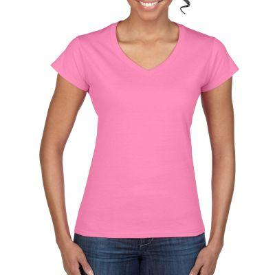 Gildan 153g Ladies Softstyle V-Neck Short Sleeve T-Shirt