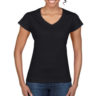 Gildan 153g Ladies Softstyle V-Neck Short Sleeve T-Shirt Image 2